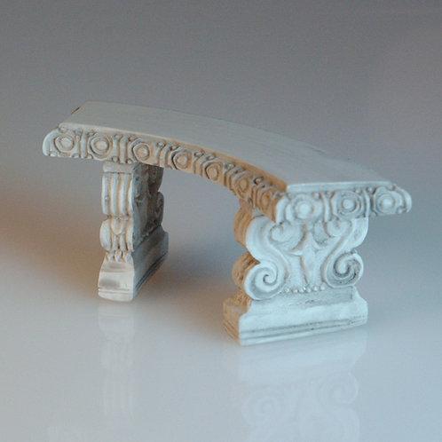 Curved Grey Garden Bench