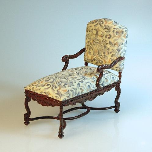 Mahogany Chaise