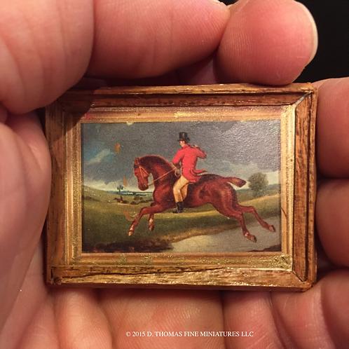 Custom Framed Print: Redcoat on Horse