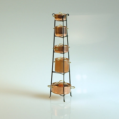 Standing Rack with 5 Pots
