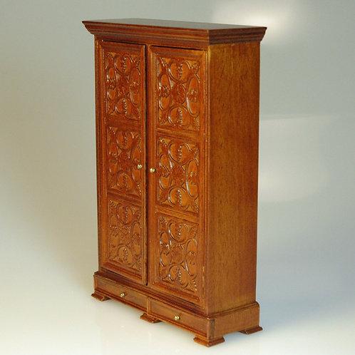 Carved Tudor Style Wardrobe