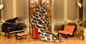 Christian Louboutin Custom Dollhouse Miniature Paris Fashion Week
