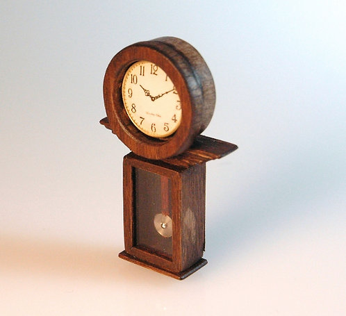Wood Clock with Pendulum