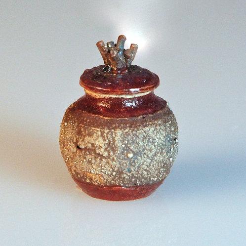 Red/Silver Jar w/Lid