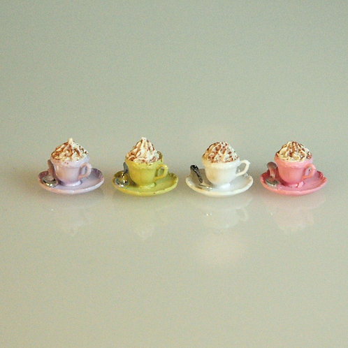 Cappuccino Mugs and Spoons Set of 4