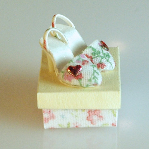 Pink Floral Shoes and Box