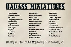 BadAss Miniatures YoHo Artists Open Studio