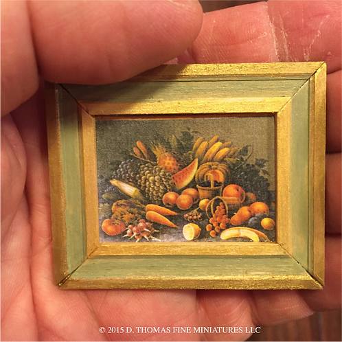 Custom Framed Print: Harvest Still Life