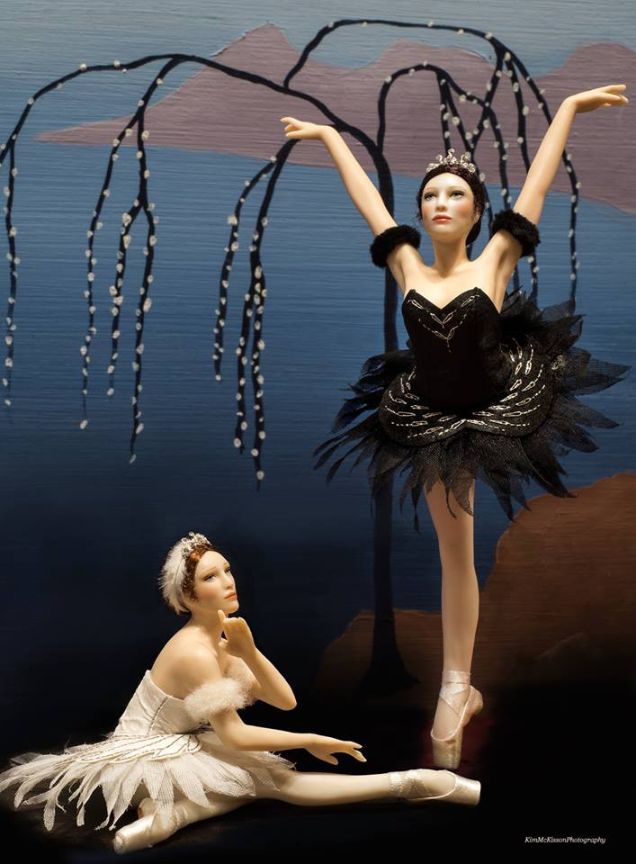 1:12 Swan Lake Ballerinas on display in Collection