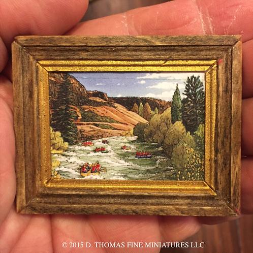 Custom Framed Print: Landcape with Boat