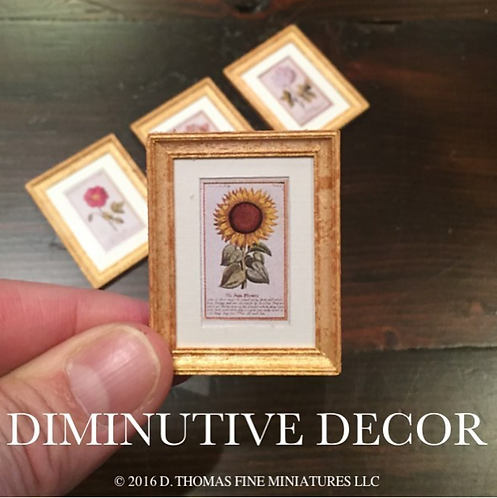 Set of Miniature Gold Framed Prints