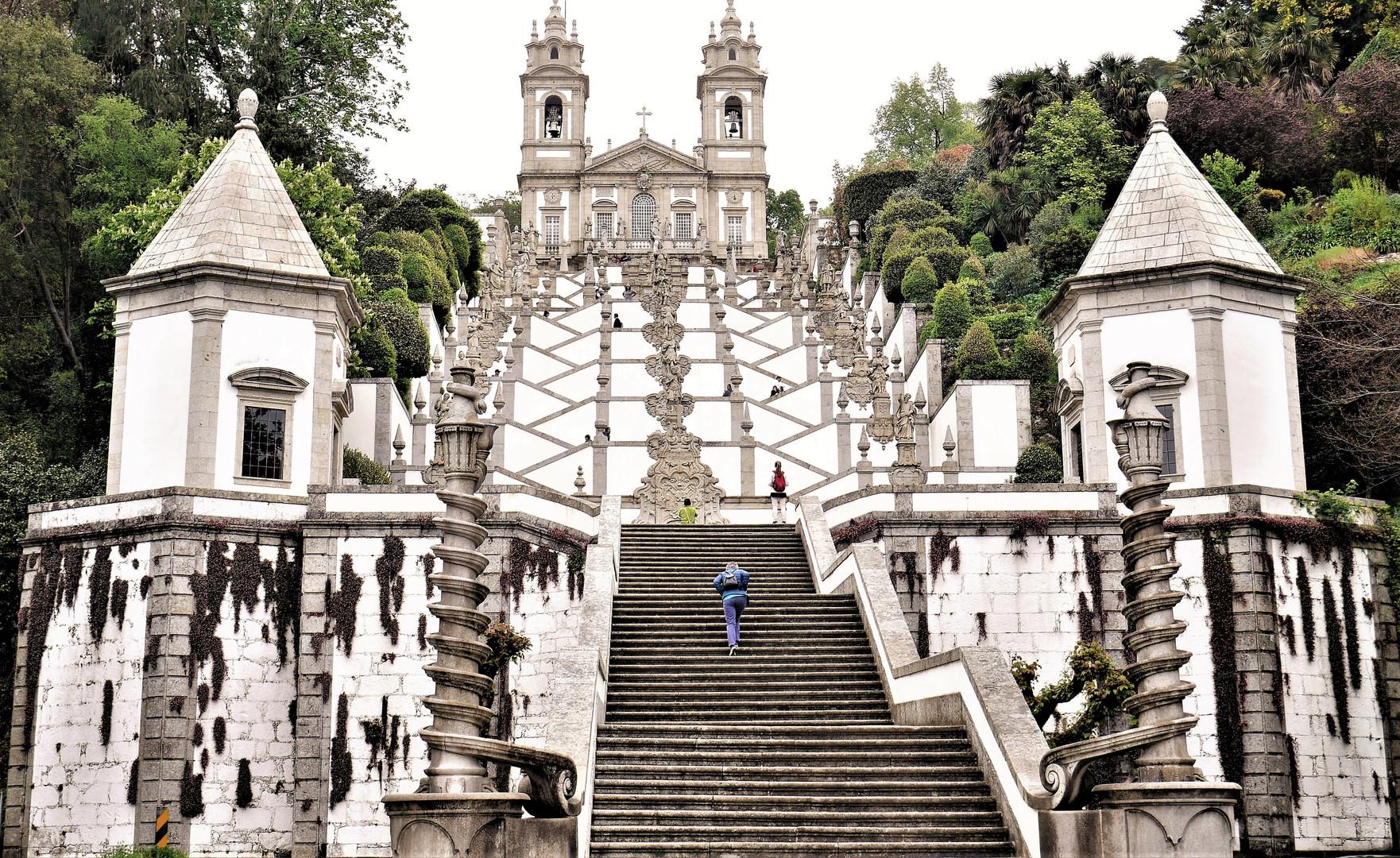 Bom Jesu do Monte Baroque stairway..JPG
