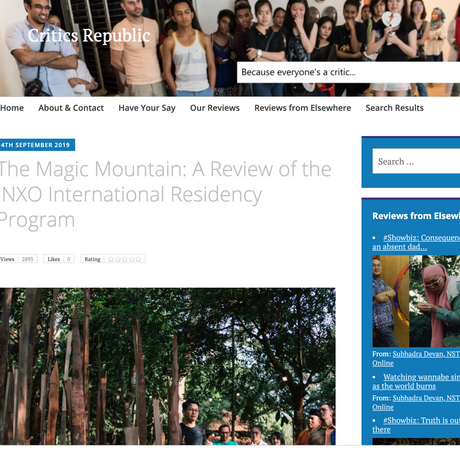 The Magic Mountain: A Review of the INXO International Residency Program- 2019