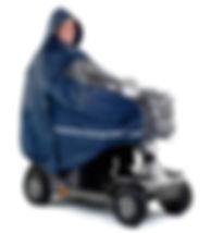 Scooter électrique avec cape de protection pour la pluie