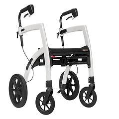 Rollator (déambulateur) Rollz Motion blanc - Le rollator (déambulateur) qui se transforme en chaise roulante