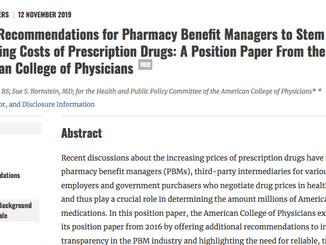 American College of Physicians Calls for Transparency From Pharmacy Benefit Managers