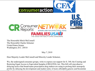 Consumer Groups Submit Letter to Senate Leaders in Support of the CREATES Act