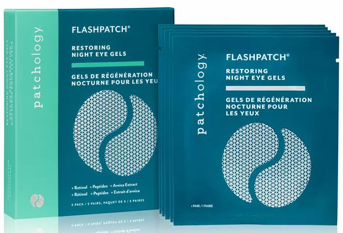 Patchology FlashPatch Restoring Night Eye Gels, 5pk
