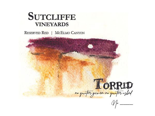 Torrid wine label
