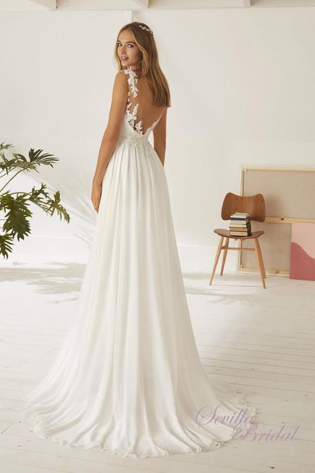 西班牙品牌Pronovias-White One透視背心V背輕婚紗2.jpg