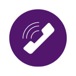 Purple Phone Icon