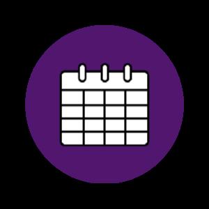 Purple Calendar Icon