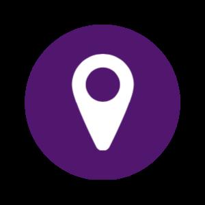 Purple Location Icon