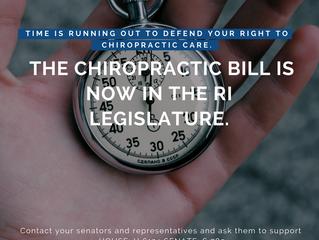 Defend Your Right to Chiropractic Coverage in Rhode Island! RI House Bill #6124/Senate Bill #789