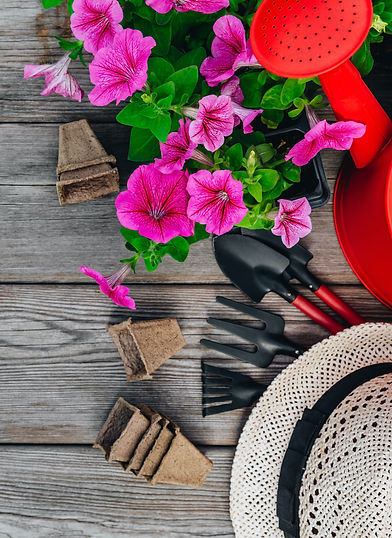 garden-tools-and-flower-pots-with-pink-p