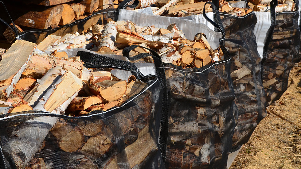 1 Tonne Bag of Seasoned Hardwood