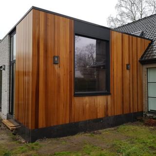houtskeletbouw aanbouw zulte      A lined architectuur