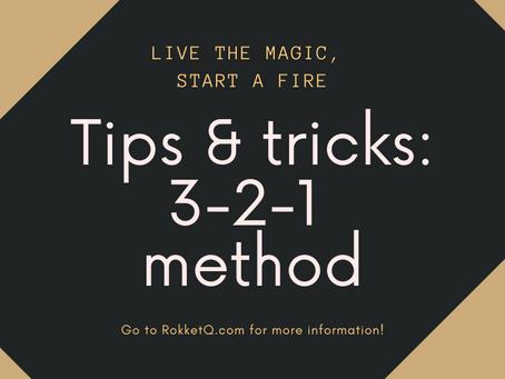 Tips & Tricks: 3-2-1 method