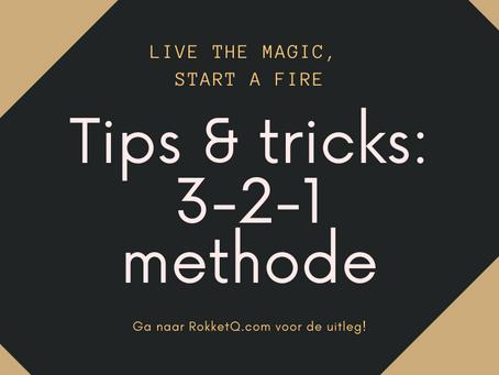 Tips & Tricks: 3-2-1 methode