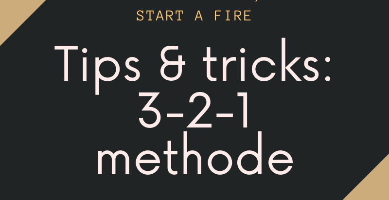 Tips & Tricks: 3-2-1 methode