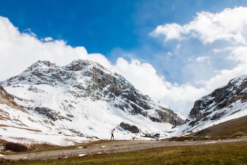 Montagne enneigée - Val d'Isere
