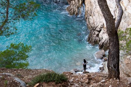 Eau turquoise dans les calanques de Marseille