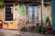 façade vétuste de Trinidad à Cuba