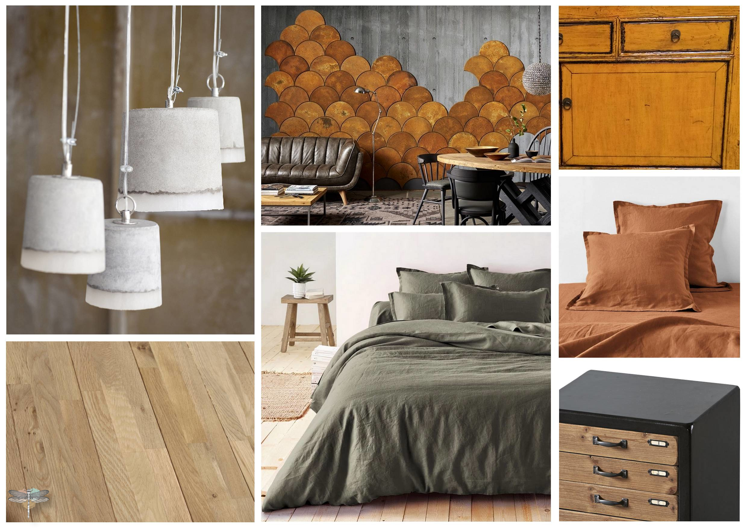 Planche d'ambiance chambre adulte