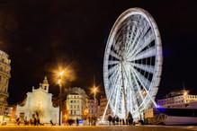 Grande roue de Marseille vue de nuit