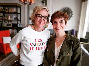Sylvie Adigard et Coralie Vasseur décoratrice d'intérieur pour Carnets Libellule, dans l'émission C'est au programme sur France 2 : Comment aménager son entrée ?