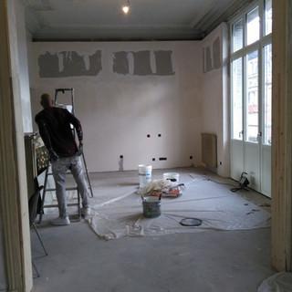 maison bourgeoise pendant travaux