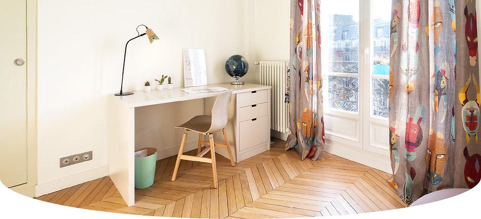 Décoration d'une chambre d'enfant à Paris par le Studio Coralie Vasseur