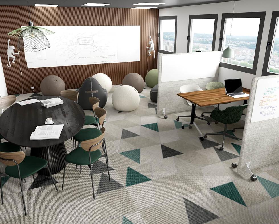 Décoration de bureaux esprit jungle pour une startup de Lille