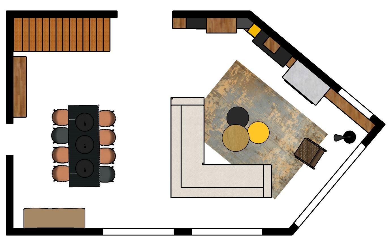 Plan d'implantation 2D sketchup