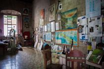 atelier dans une église de la Havane