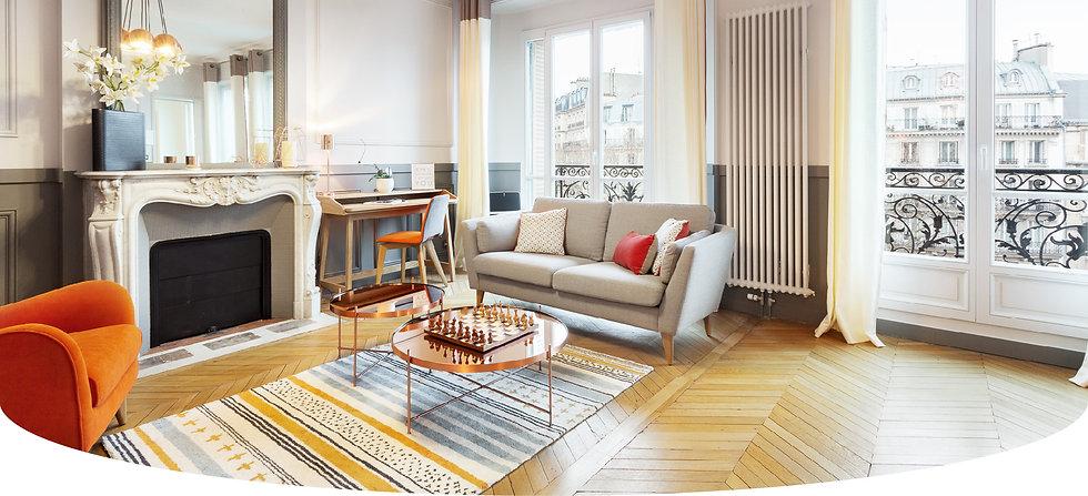 Décoration d'un appartement Haussmannien par le studio Coralie Vasseur, architecture intérieure et décoration à Annecy