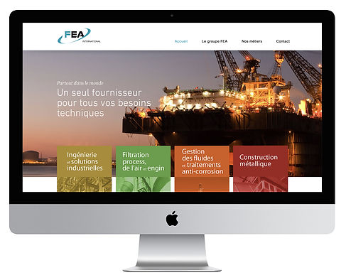 Site internet FEA International par Pesto Studio