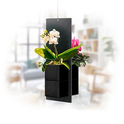 Mobile végétal S pots noirs