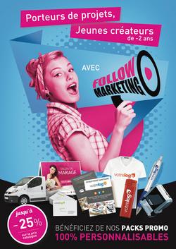 Flyer Follow Marketing par Pesto Studio