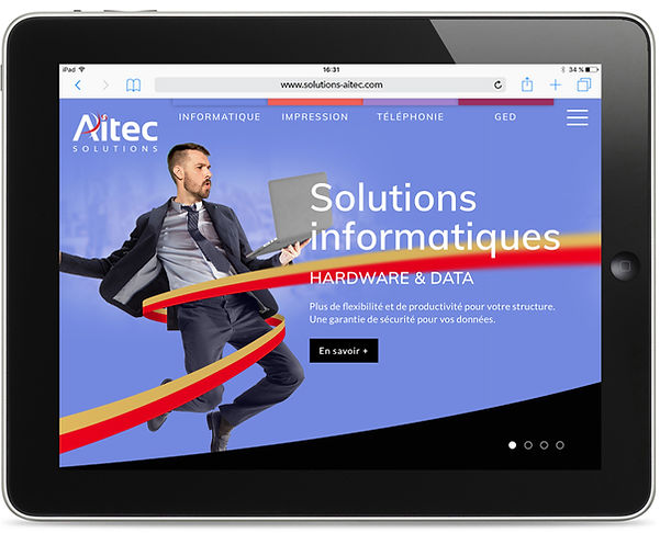 Site internet Aïtec par Pesto Studio